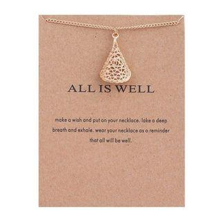 Necklace Dogeared Clavicle All is Well Kalung