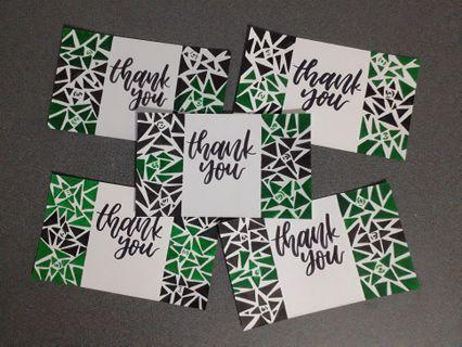 Patterned Designed  Calligraphy Cards