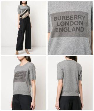 BURBERRY Knit Logo Print Top