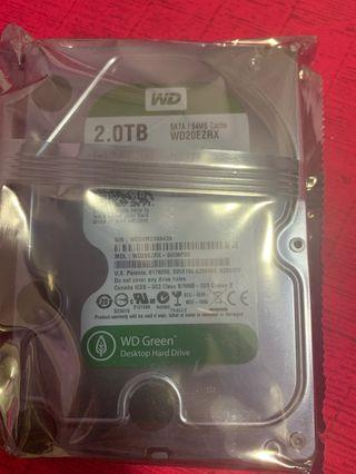 New WD 2 TB 3.5inch Hardisk 1 year warranty by WD