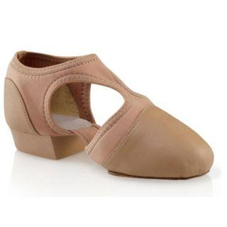 New Capezio Pedini Femme Jazz Shoes Tan and Black Size 8M