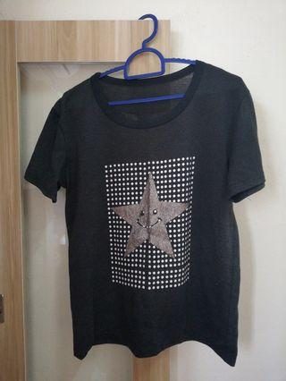 Black T-shirt (with a golden star)