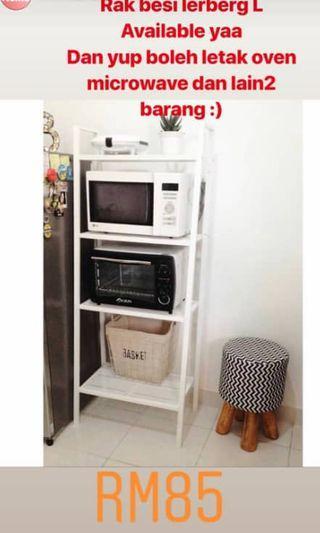 Lerberg L white rak besi rack kitchen