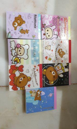 🚚 Rilakkuma small notepad bundle of 7