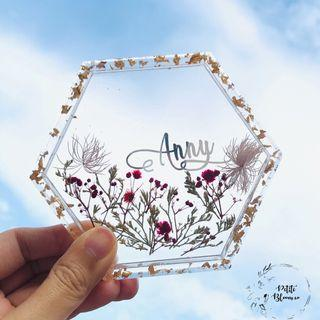 Handmade Resin Floral Trinket Tray