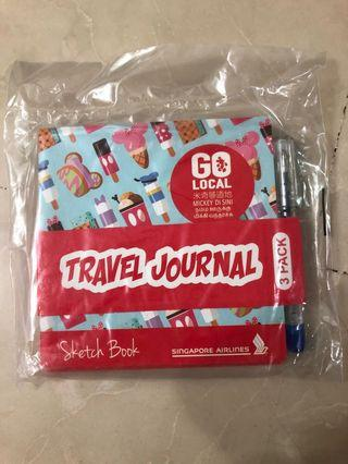 Pack of 3 Travel Journal with Pen from SQ