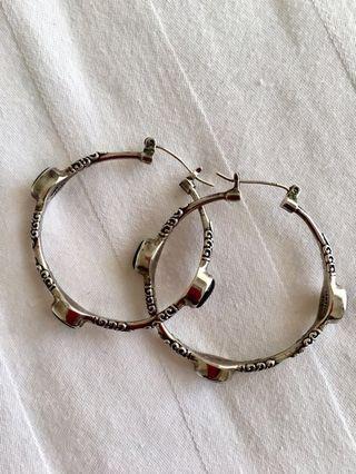 Onix & Silver Vintage Earrings