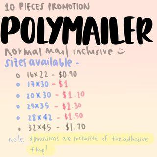 polymailers with assorted sizes (free mailing)