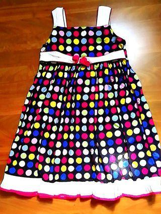 Cerisi Rainbow color Polka dot Dress