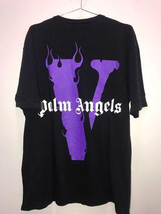 INSTOCK VLONE PALM ANGELS BLACK TEE