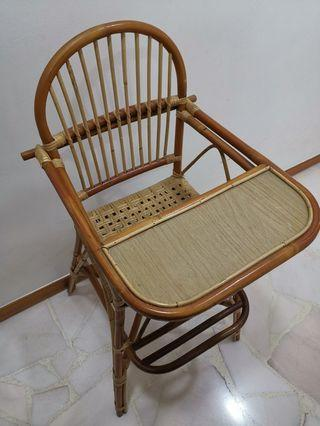 Kids Rattan High Chair