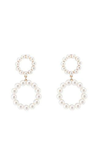River island authentic pearl drop earrings