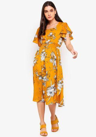 ZALORA Ruffles midi dress