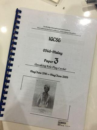 igcse malay paper 3 role play past paper
