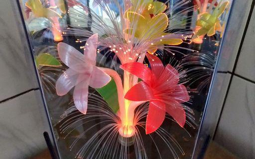 旋轉光纖花燈座—古物舊貨、早期臺灣工藝美術擺飾