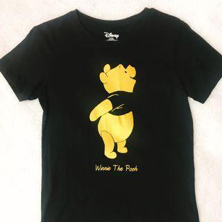 🚚 Lativ 燙金小熊維尼短袖T恤