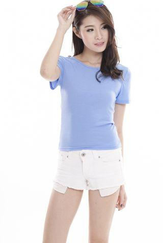 TCL Ribbed Tee V2 in Powder Blue