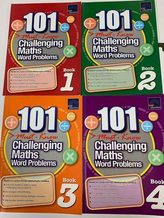 101 Must-Know Challenging Math Word Problems Book 1-4