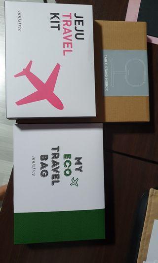 Innisfree Table Mirror Travel Bag Jeju Travel Kit