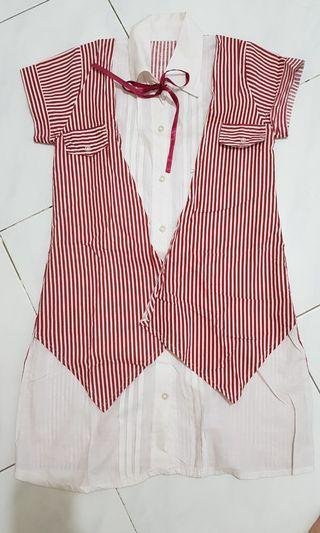 Stripe Vest Dress
