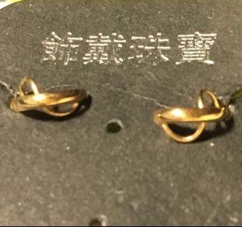日本製18k金耳環