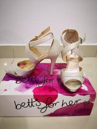 Australia Betts Silver High Heels 9cm
