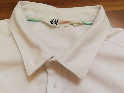 🚚 H&M White short sleeve Top