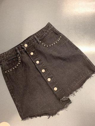 100% new Women jeans short dress ( black colour