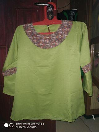 #mauthr blouse hijau