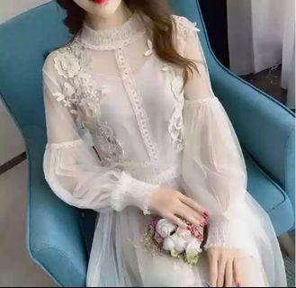 Women Midi Dress, Beige color