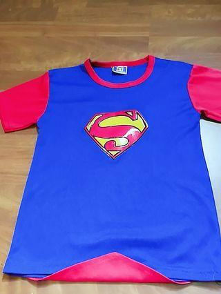 🚚 Authentic~Double concepts Super Man Tops ( attached with Flying cape)