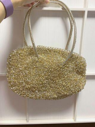 anteprima wirebag (Golden color with beads, special edition)
