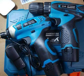 12v YFtos cordless drill +  12V impact DRIVER SET NP 278