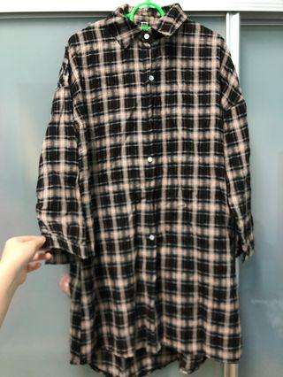 Checker oversize dress