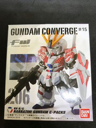 Gundam Converge#15 206 Narrative Gundam C-packs