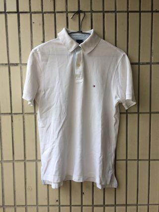 🚚 Tommy Hilfiger polo shirt white 白色 polo衫 xs