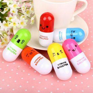 5 pcs fancy pill shape pen