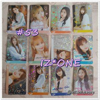 53期 [Yes!Card] IZ*ONE - 閃卡 ( Set )