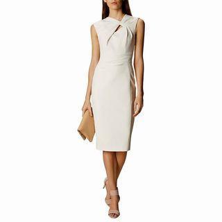 Karen Millen White Knot Detail Pencil Dress