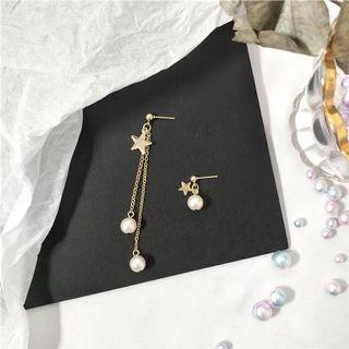 #110 Pearls pendant Earrings with star
