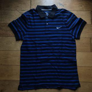 Nike Black and Blue Stripes Shirt