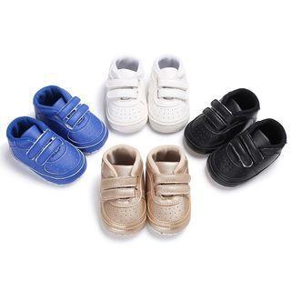 🚚 寶寶鞋M6-12月/藍色時尚休閒PU軟底防滑學步鞋