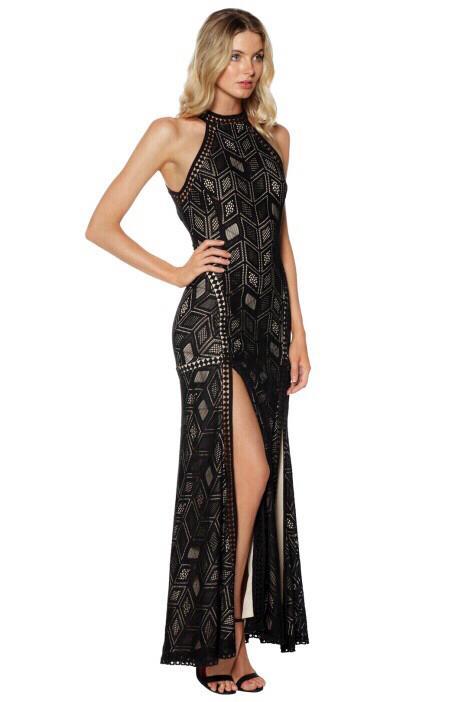 $220RRP - Guess SUNSET SLEEVELESS GEO-LACE MAXI DRESS