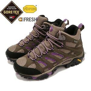 Merrill Moab Mid Gore-Tex -  Women US Size 7 Black Slate/Purple
