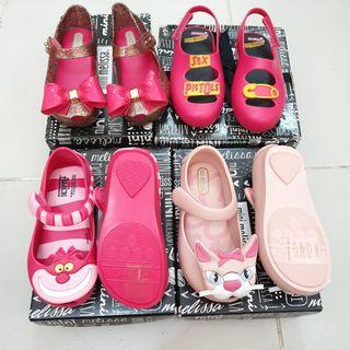 Mini Melissa s8 15cm shoes sandals pink preloved brand new