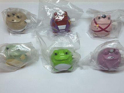 Frog Style Frog Dash 青蛙 上鏈會行 車仔 雙腳會郁 扭蛋 全6隻 齊蛋紙 全新 絕版