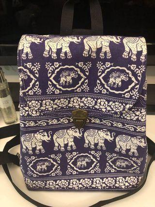 Thai Purple Elephant Backpack