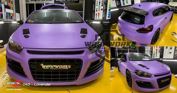 Volkswagen scirocco full wrap matte purple!