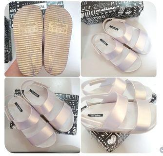 Mini Melissa Cosmic Sandals s11 runs small white pearl 17cm 16.5cm s10 kids sandals not fitflop saltwater birkenstock