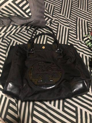 Authentic Tory Burch Ella Tote Bag in Black size large